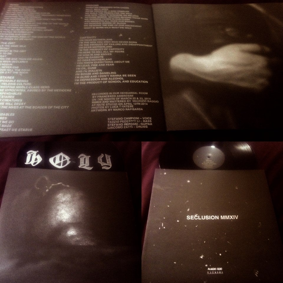 "Image of HOLY ""Seclusion MMXIV"" 12"" EP VIT040"