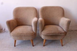 Image of Fantastic pair of 1950's 60's coctail arm chairs