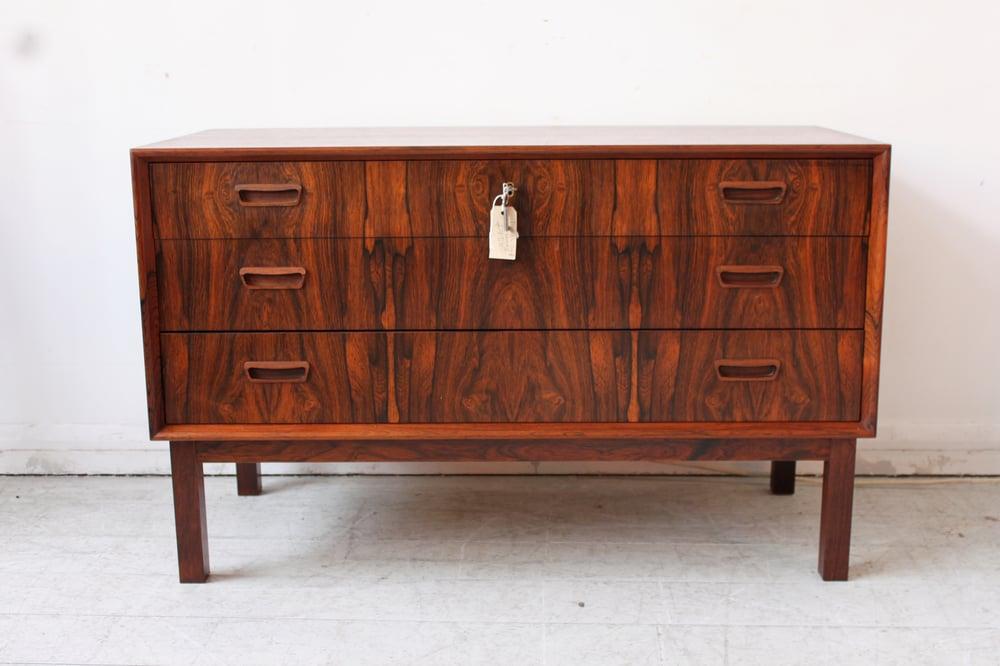 Image of Stunning 1960's danish rosewood chest