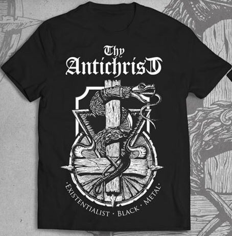 Image of THY ANTICHRIST Existentialist Black Metal Tshirt