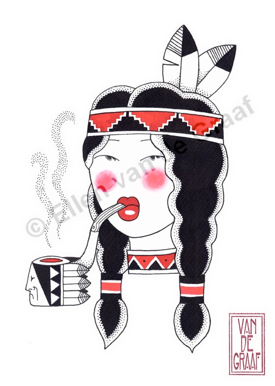 Image of Smoking Squaw