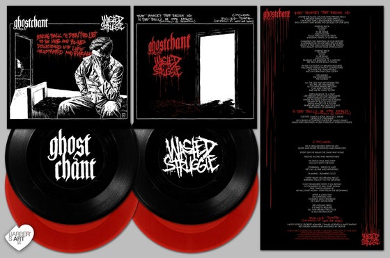 Image of GHOSTCHANT & WASTED STRUGGLE SPLIT 7""