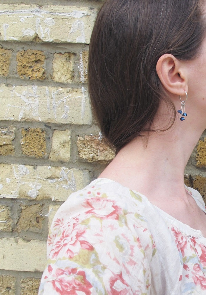 Image of {NEW}Springtime Forget-me-not charm earrings