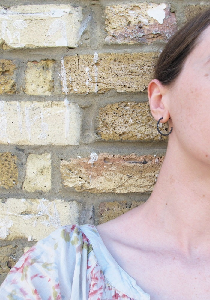 Image of {NEW}Nautilus rope earrings