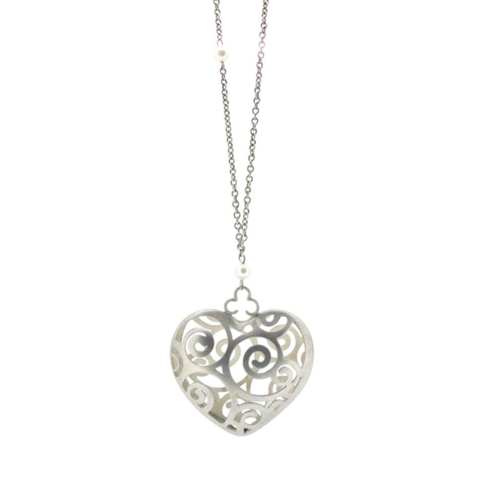 Image of Wonderland Alice's Tumble heart necklace
