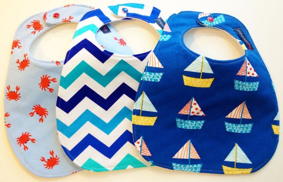 Image of Nautical Boy Bib Trio