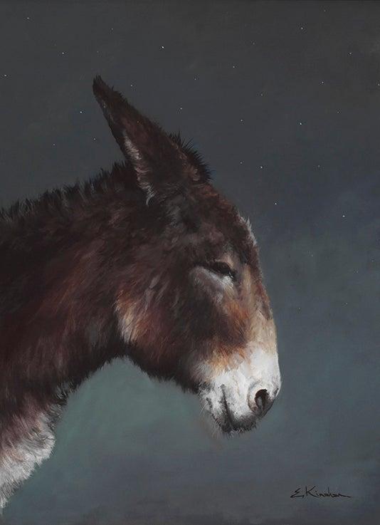 Image of Rabbit in Profile print