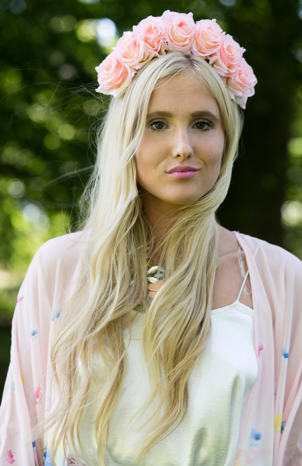 Image of Charlotte Pink Rose Crown