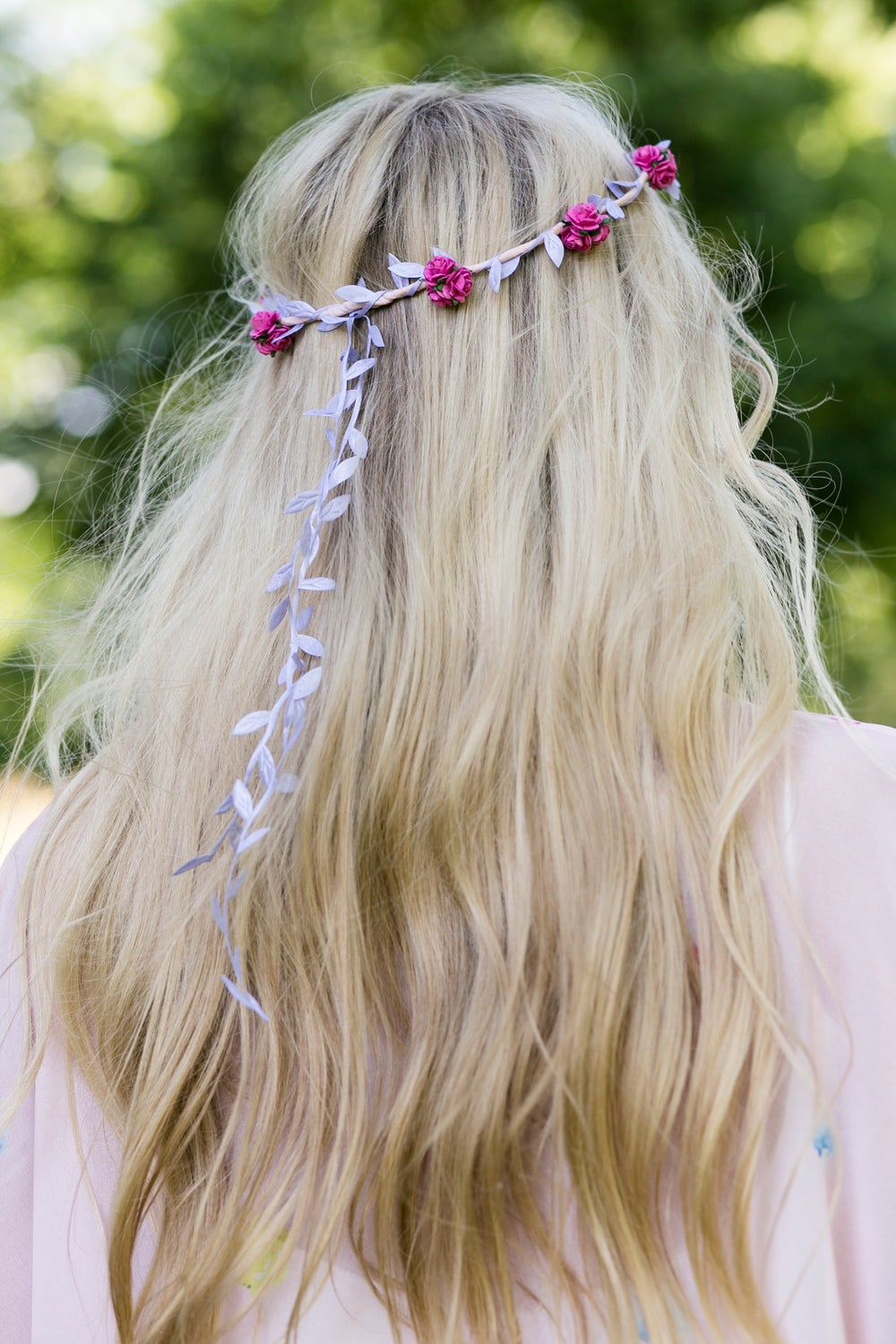 Image of Liberty Rose Garland Hot Pink and Lilac