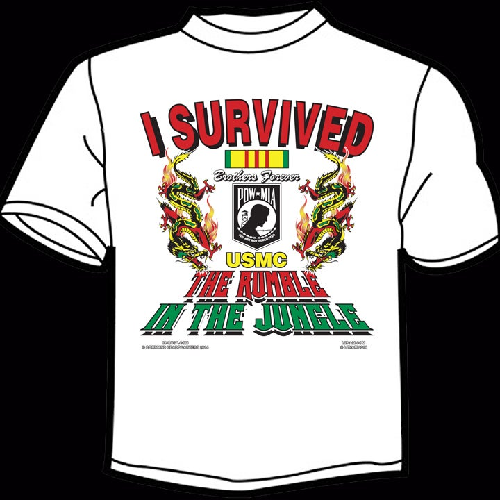 Image of I Survived the Rumble in the Jungle TEE - WHITE