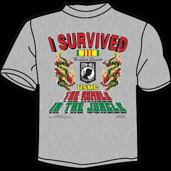 Image of I Survived the Rumble in the Jungle TEE - GREY