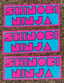 Image of Shinobi Ninja Vinyl Stickers
