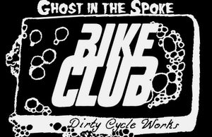 "Image of Dirty Cycle Works' cycling group ""Bike Club"" weatherproof stickers!!! 4.25 x 2.75in"