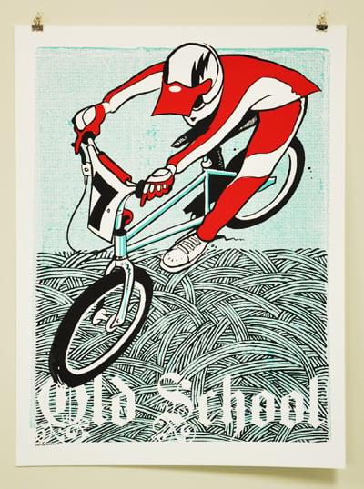 Image of PRINT: OLD SCHOOL BMX