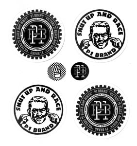 "Image of ""Victory is Black and White"" Sticker Pack (P1B-A0530)"