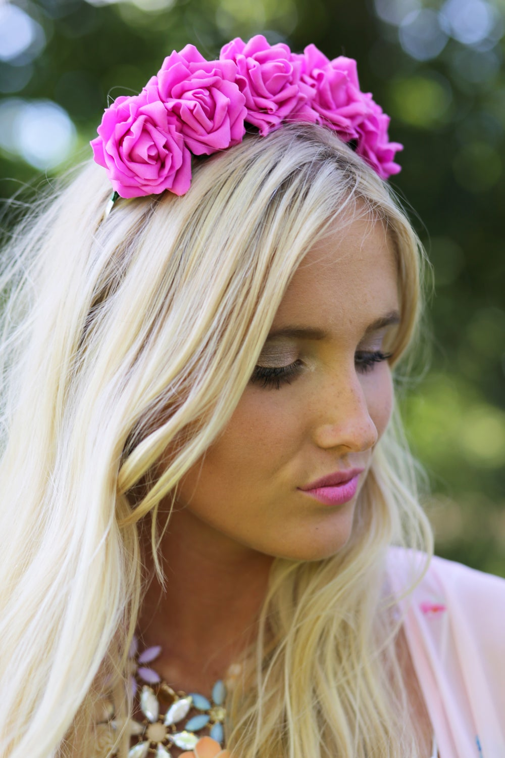 Image of Wild Rose Crown Cerise