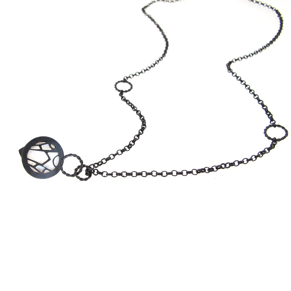 Image of {NEW} Nautilus Spyglass mini necklace