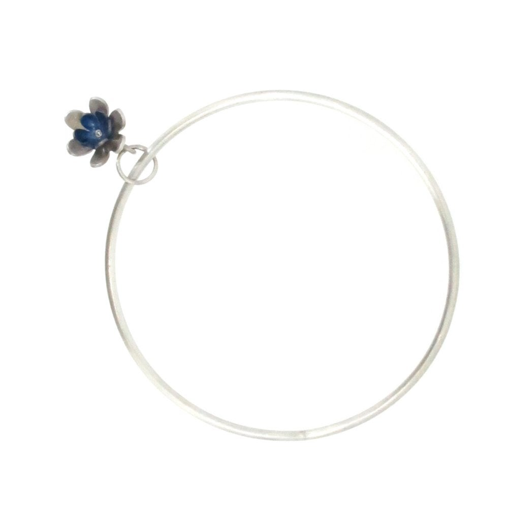 Image of Springtime Double Forget-me-not Flower charm bangle