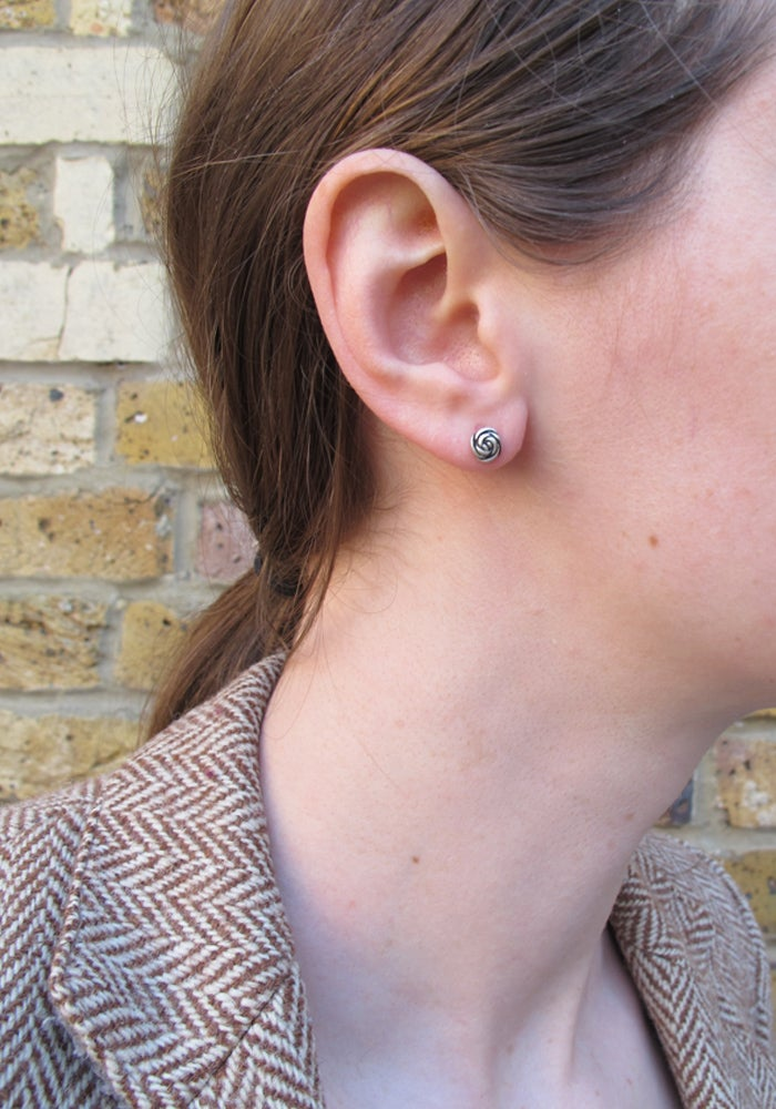 Image of Springtime Rose bud earrings
