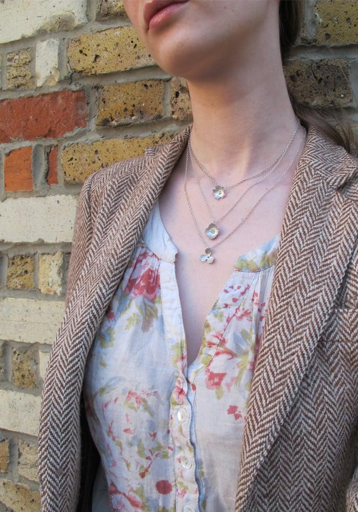 Image of Springtime Primrose flower pendant