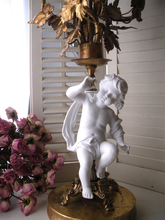 Image of Antique Putto Candelabra