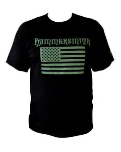 Image of Hammersmith Flag Tee - Black with Green Flag