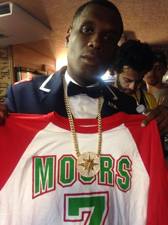 Image of MOORS 7- RAGLAN/BASEBALL TEE RED/WHITE/GREEN