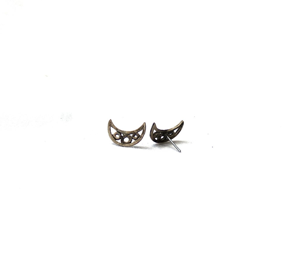 Image of Crescent Post Earrings