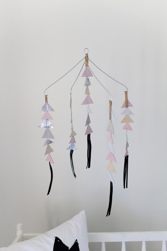 Image of The Leather Triangle Mobile in Josie **NEW COLORS!