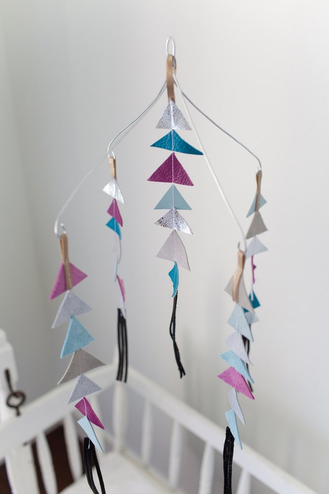 Image of The Leather Triangle Mobile in Francis **NEW COLORS!