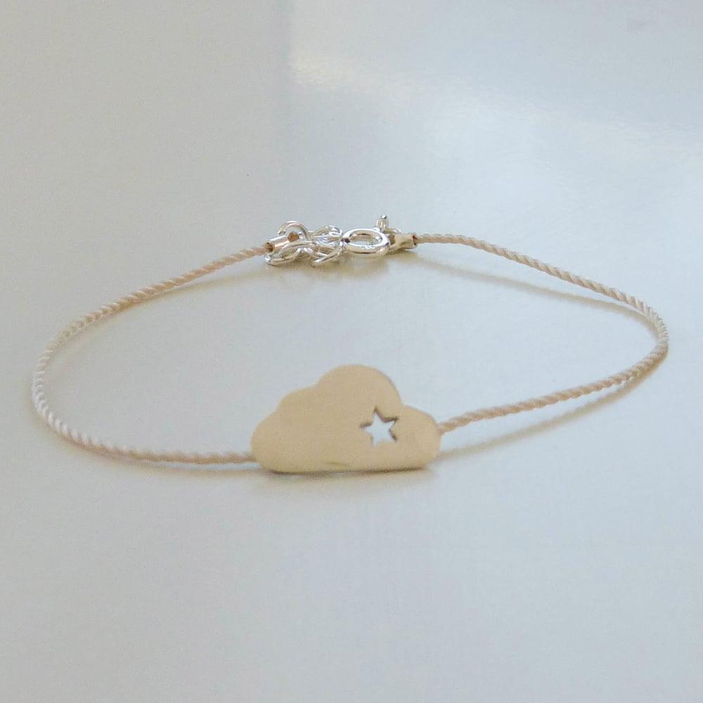 """Image of Bracelets en argent ou plaqué or """"nuage étoilé"""""""