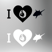 Image of I Love Sharks Sticker