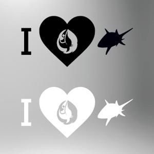 Image of I Love Sharks Sticker