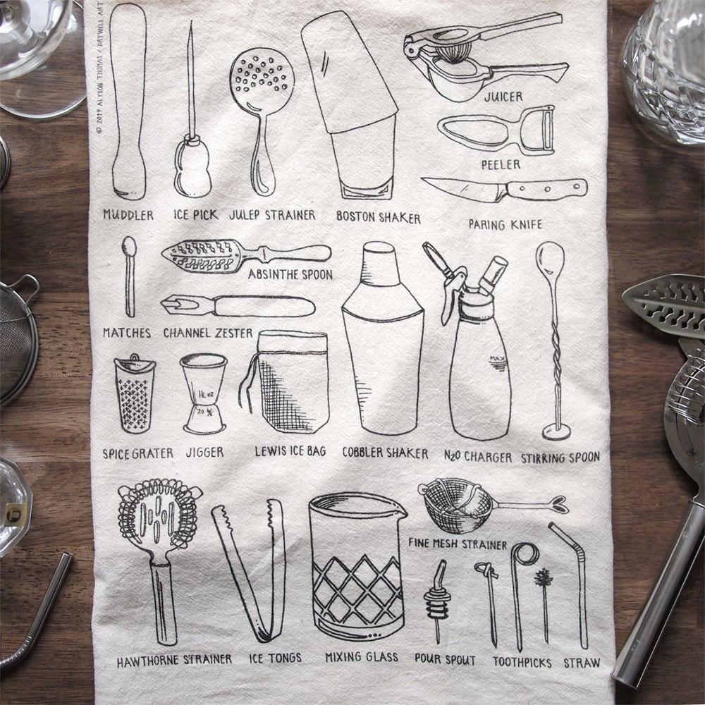 Image of Bar Tools Tea Towel