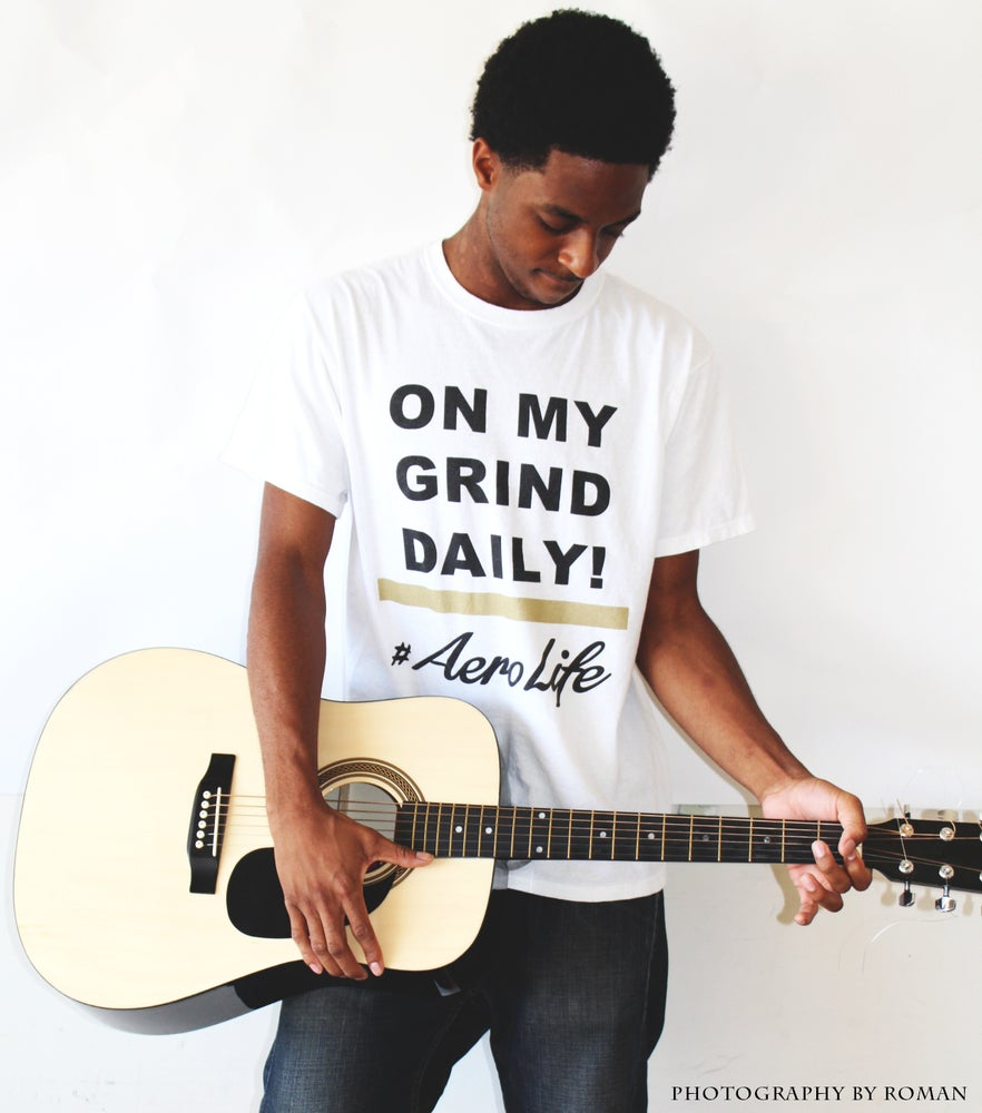 "Image of White ""On My Grind Daily"" Tee"
