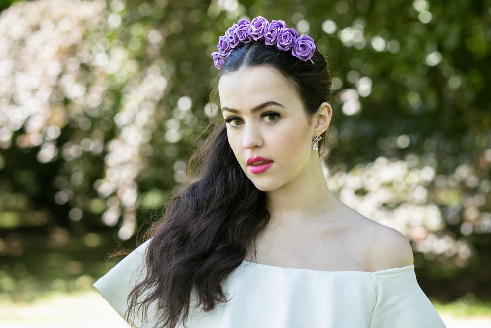 Image of Ring of Roses Crown Violet