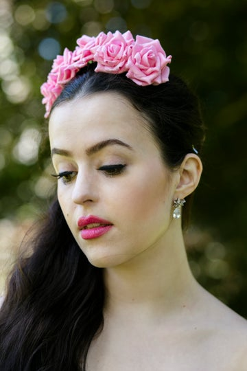 Image of Wild Rose Crown Dusky Pink