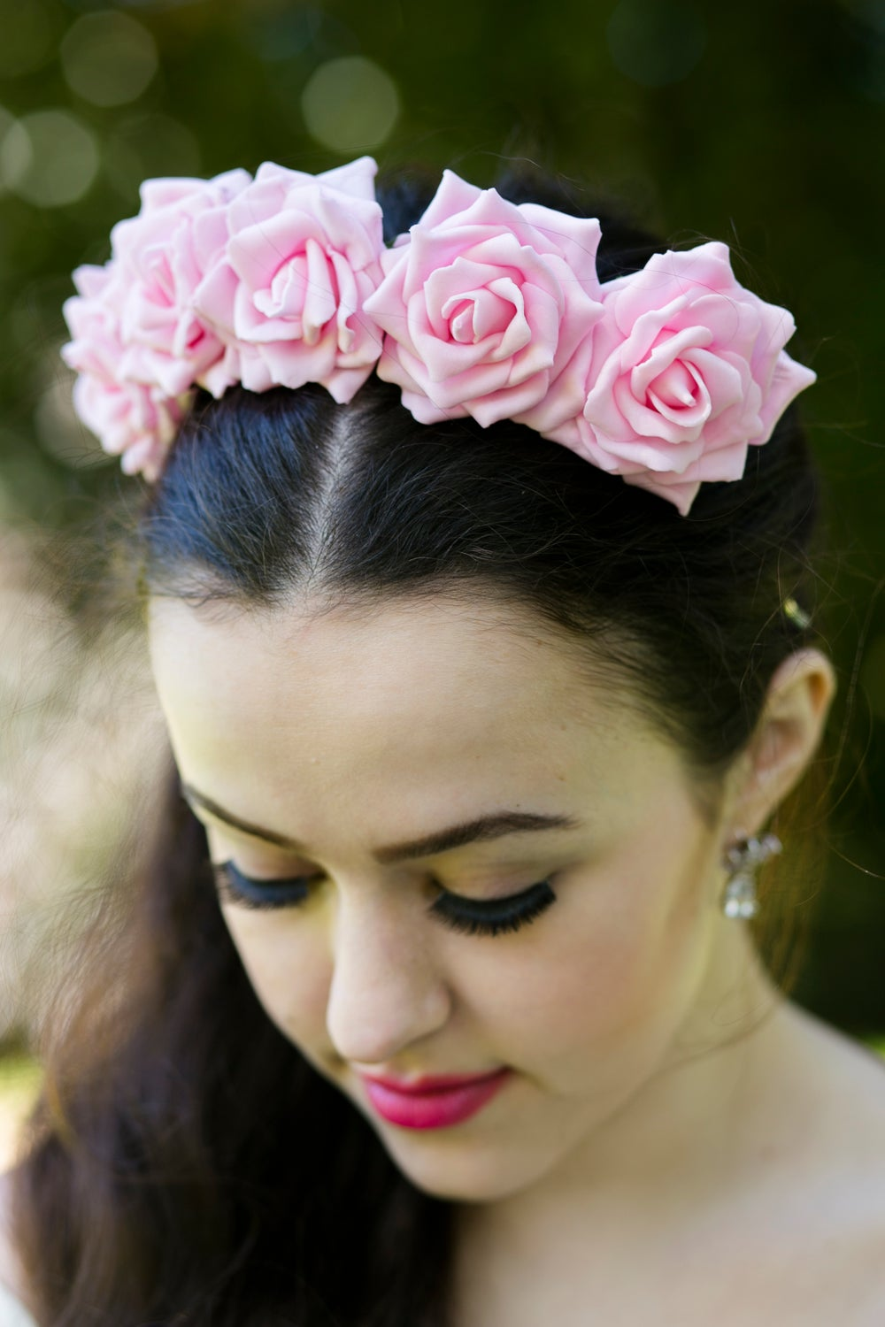 Image of Wild Rose Crown Pastel Pink