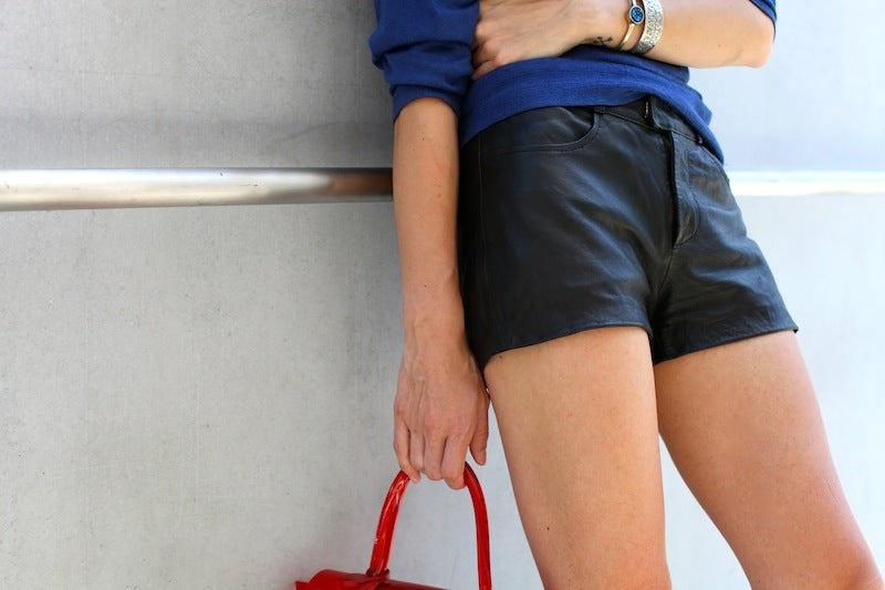 Image of Vintage Leather Shorts