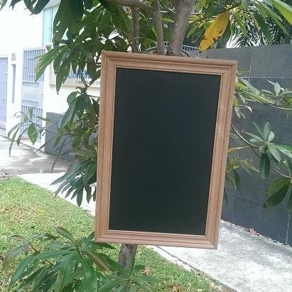 Big Chalkboard with Corrugated Frame