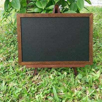 Image of Small Walnut Chalkboard with Stand