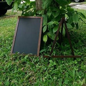 Small Walnut Chalkboard with Stand