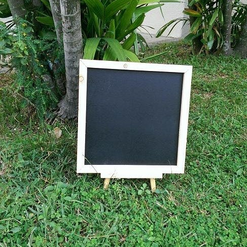 Square Pine Wood Chalkboard with Stand