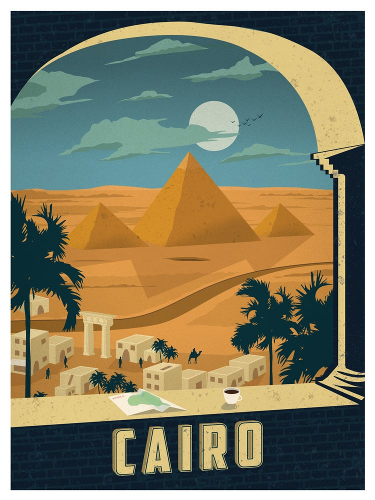 Image of Vintage Cairo Print