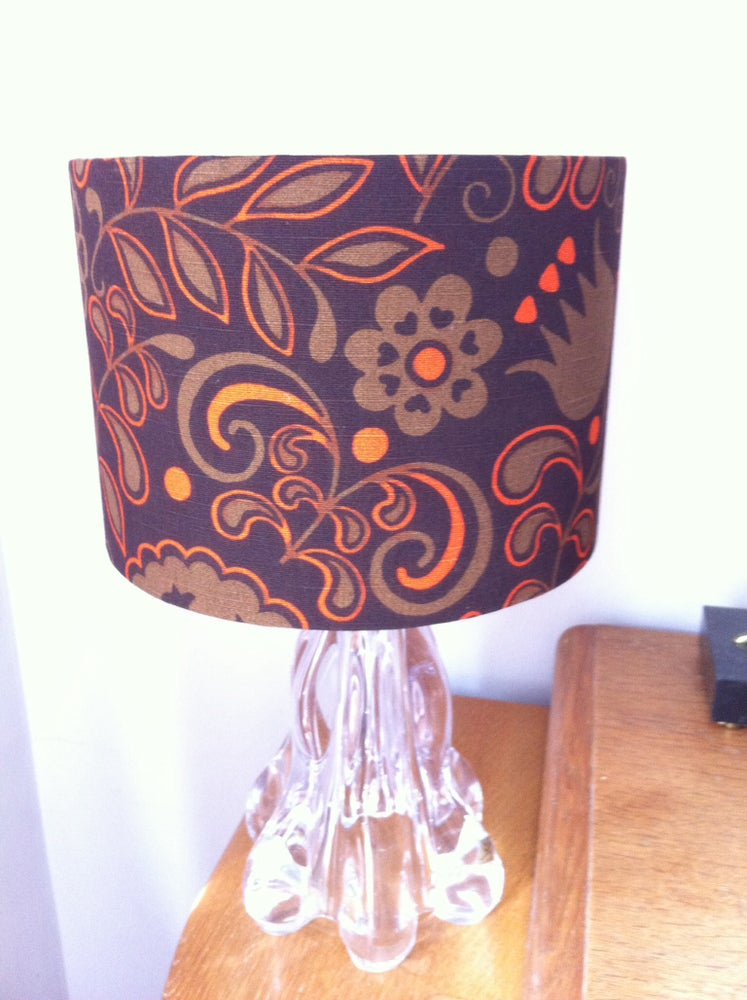 Image of Beautiful Lampshade or Lightshade made from Vintage Fabric