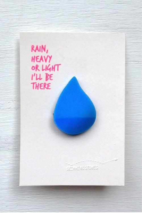 Image of Rain - brooch
