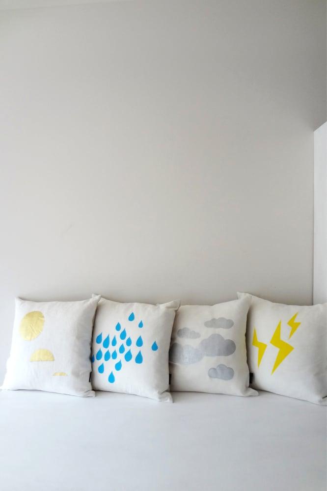Image of Rain - Cushion WAS $49