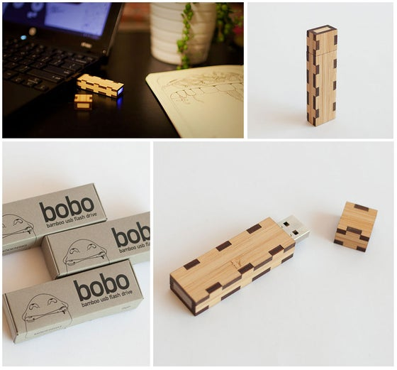 Image of bobo Bamboo USB Flash Drive 8gb