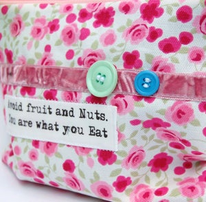 Image of `Avoid Fruit and Nuts, You Are What You Eat` Quote purse