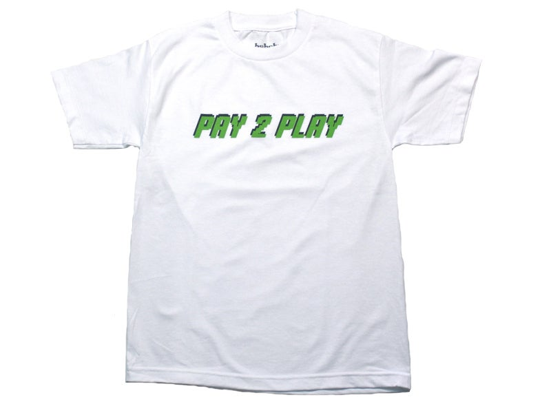 Image of Pay 2 Play Tee (White/Green)